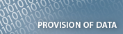 Provision of data