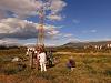 Vrtání jezerních sedimentů na Ochridské plání v Severní Makedonii. Foto: Jan Hošek