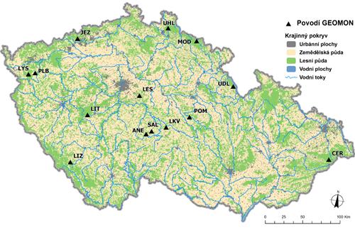 Mapa sítě Geomon