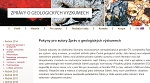 Náhled webu Zprávy o geologických výzkumech