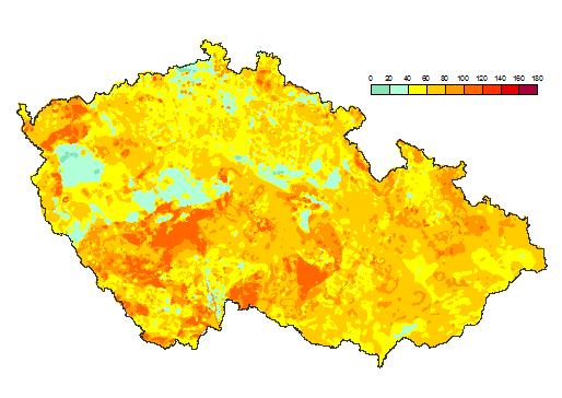 Radiometrická mapa České republiky