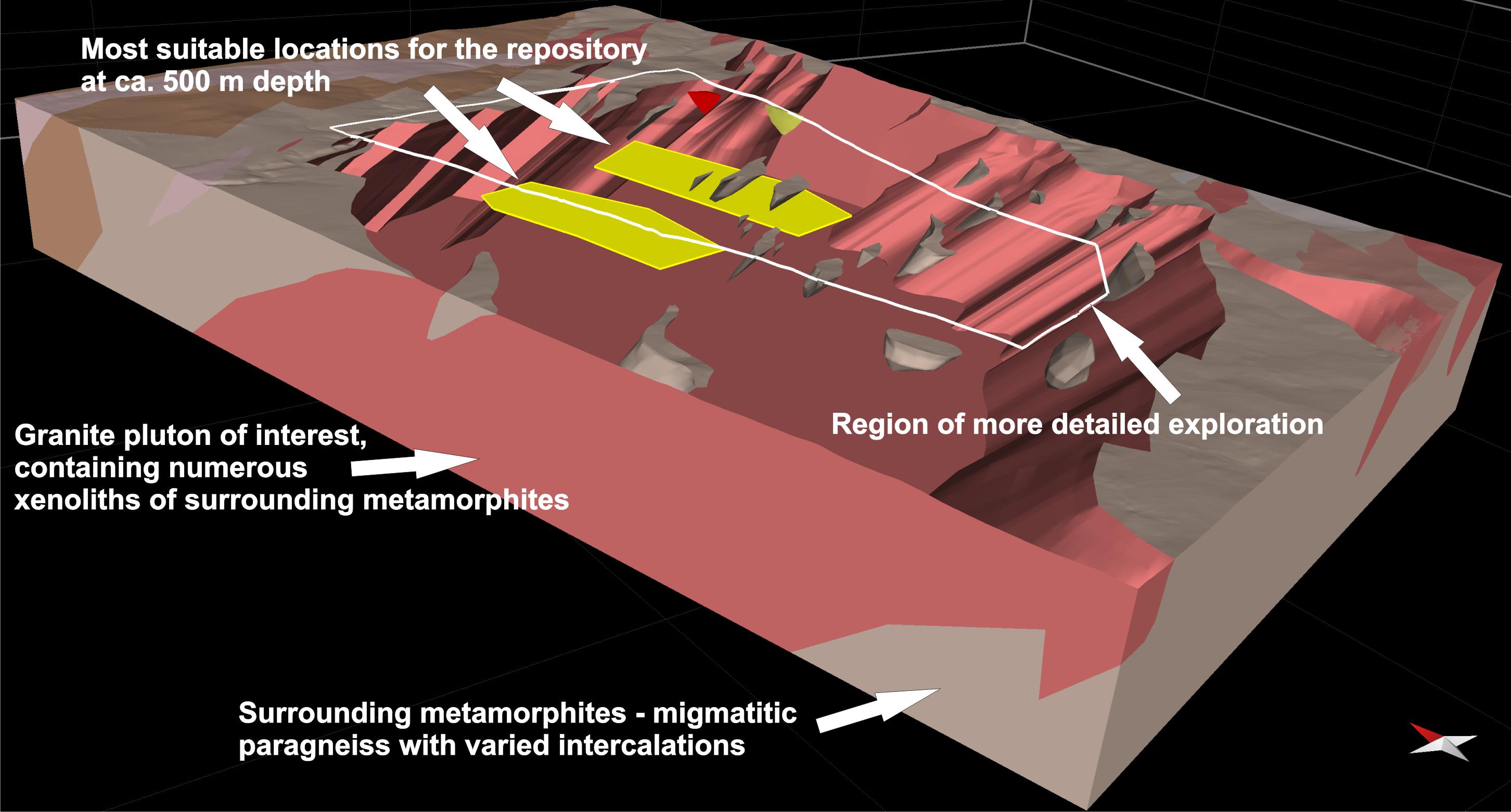 3D geologický model pro hlubinné úložiště radioaktivního odpadu