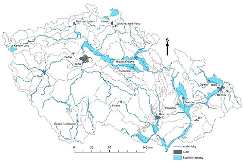 Pozice hydrogeologických rajonů