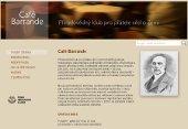 Snímek stránek Café Barrande
