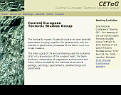 Screenshot of the CETEG website