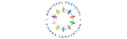Logo Vídeňské úmluvy a Montrealského protokolu