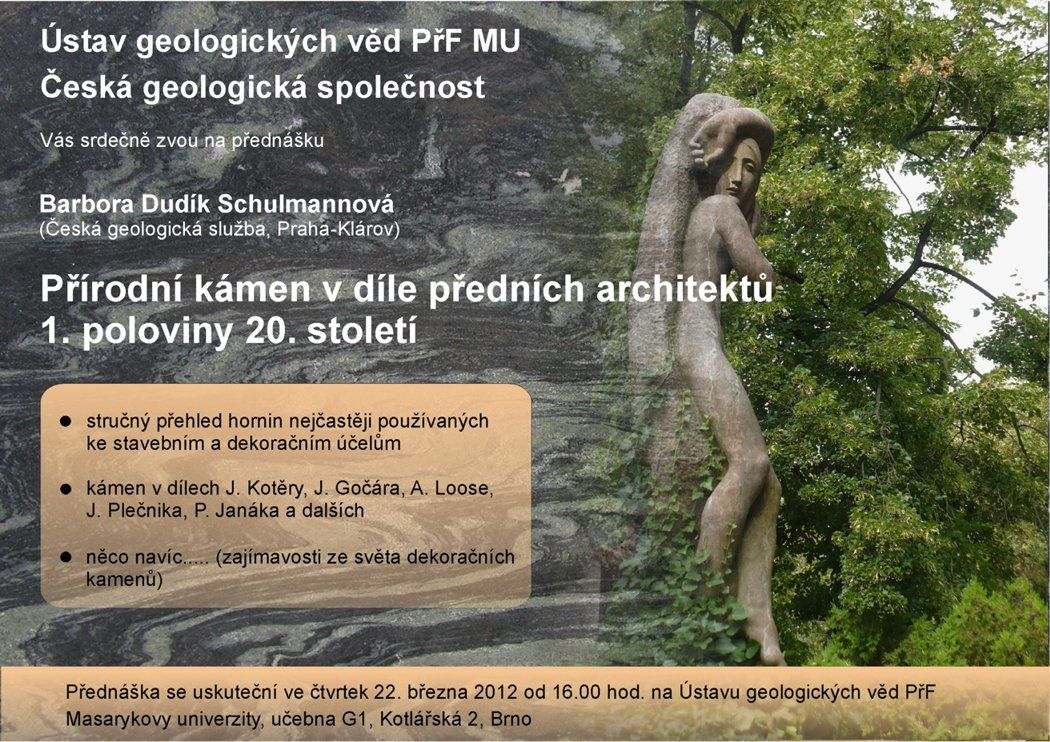 A lecture entitled Work of outstanding artists in Prague cemeteries