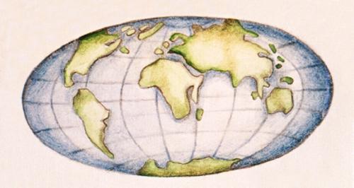 Mapa znázorňující svět za zhruba 50 milionů let