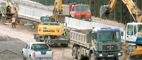 Stavbou dálnice se přemístí velké množství zeminy