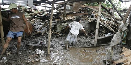 Ničivé záplavy na Filipínách.