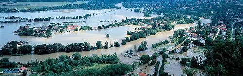 Povodeň v Černošicích.