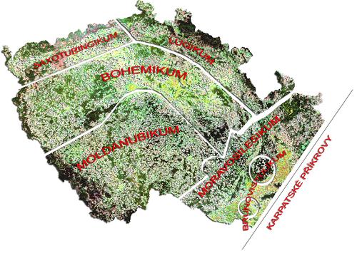 Hlavní geologické jednotky ČR