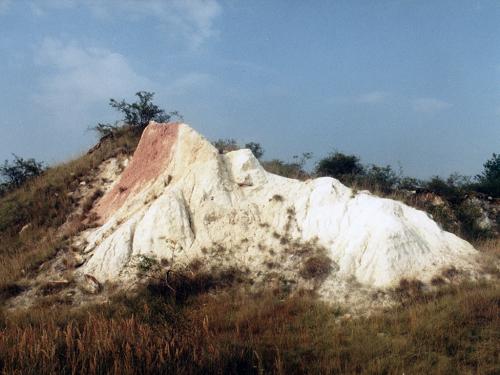 Zvětralé křídové sedimenty
